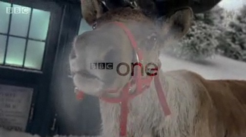 doctor who christmas ident - a reindeer