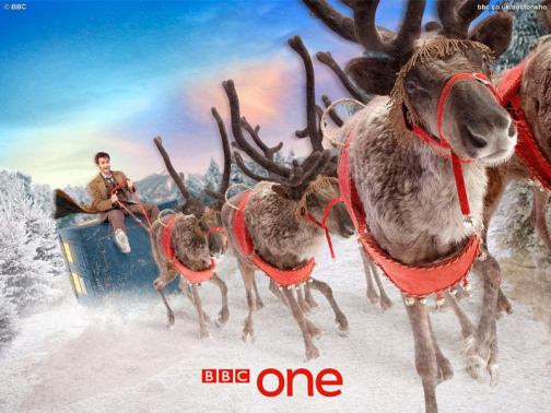 doctor who bbc christmas wallpaper tardis