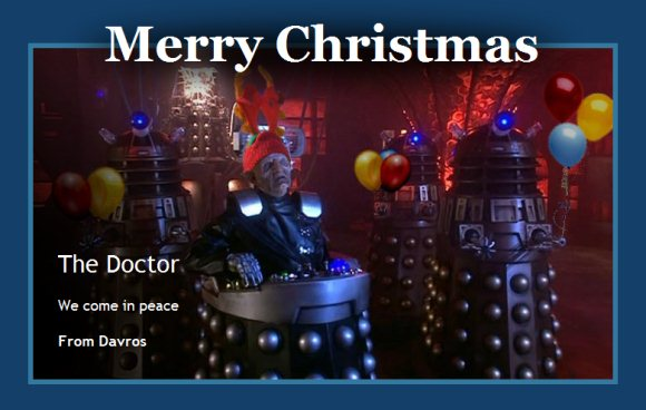 Christmas Countdown – Dalek Bump 'n' Go – The Doctor Who Site News